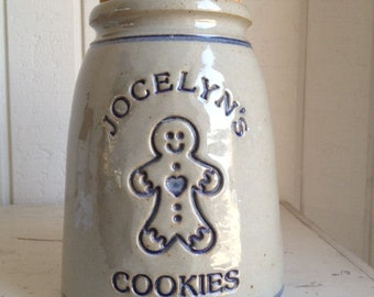 Personalized Stoneware Cookie Jar