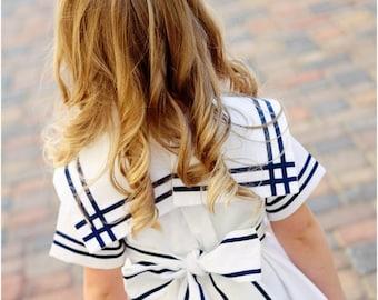 Girls sailor dress - Etsy