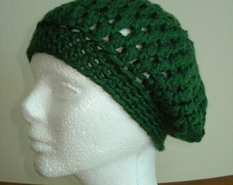 Handmade Forest Green Beanie Hat