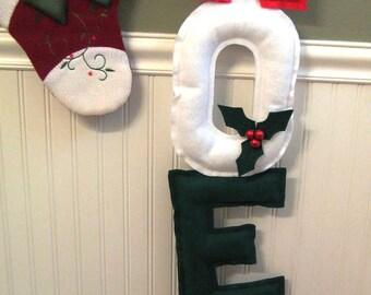 Christmas Wall Hanging - Soft Sculpture Noel