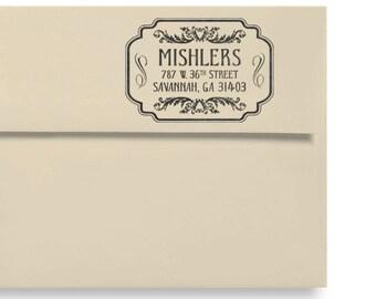 Personalized Stamp - Vintage Style - Custom Return Address Stamp - Housewarming - Wedding - Personalized Gift - DIY Addressing - Label Style