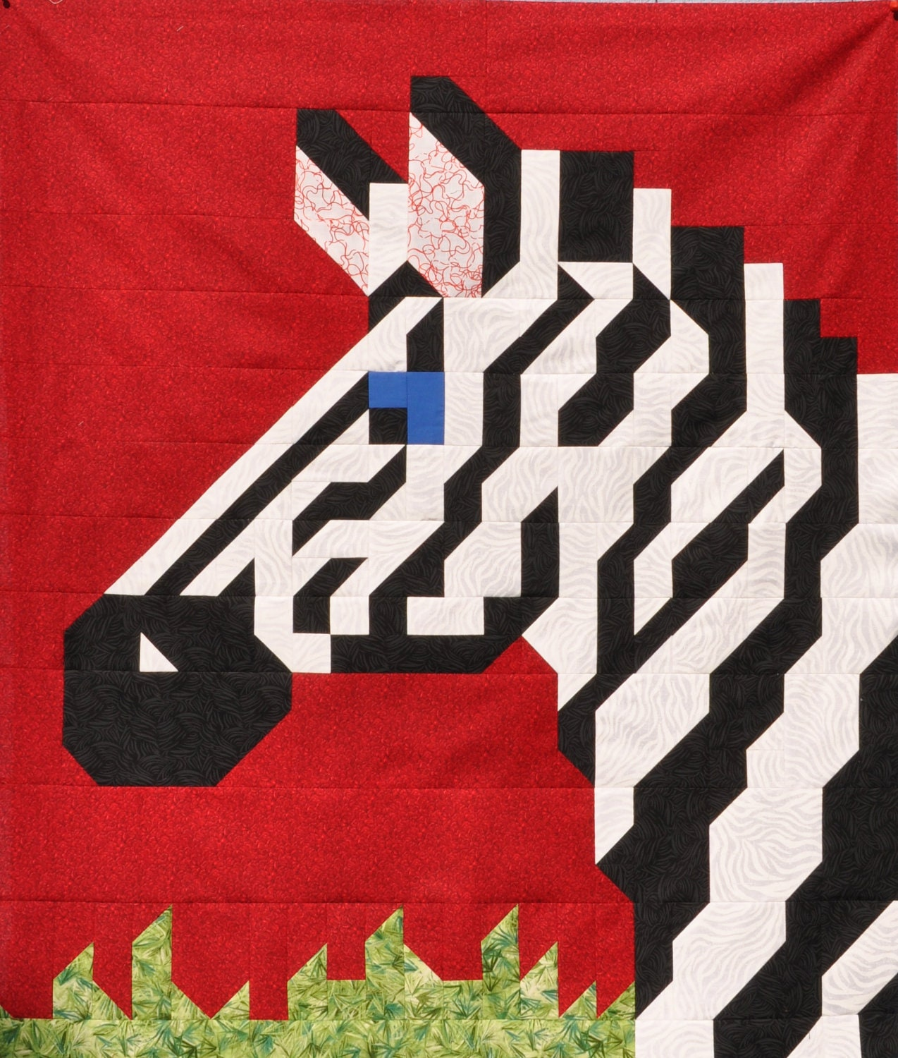 Zebra Quilt Pattern In Multiple Sizes Pdf