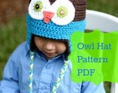 Owl Hat Pattern, Crochet Owl Hat Pattern, Crochet Pattern - Permission to Sell