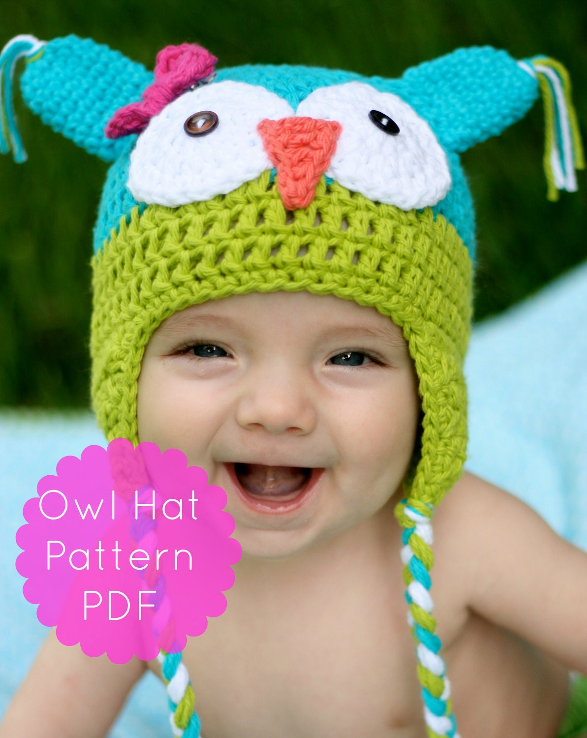 Crochet Baby Girl Owl Hat Pattern : Owl Hat Pattern Crochet Owl Hat Pattern Crochet Pattern