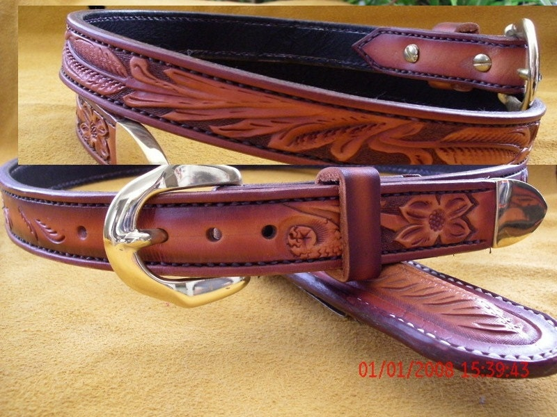 custom leather belt western belt handmade belt by