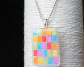 Multi Color Mosaic Glass Pendant/Handbag Charm