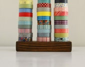 Washi Tape Storage  - Wood Masking Tape Holder - Eco friendly Japanese Tape Dispenser for 30 rolls - coworkers gift