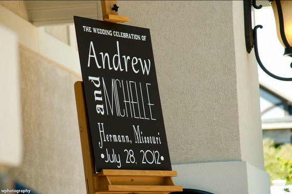 Items Similar To Wedding Ceremony/Reception Welcome Sign