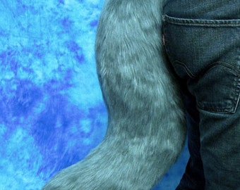 Grey Faux-Fur Fox/Wolf Tail - Fursuit - Cosplay - Costume