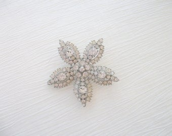 "Bogoff Brooch or Pin 2 1/2"" Rhinestone Vintage SALE"