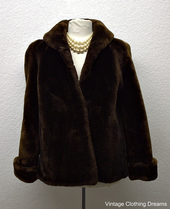 Vintage Mouton Lamb Fur Coat