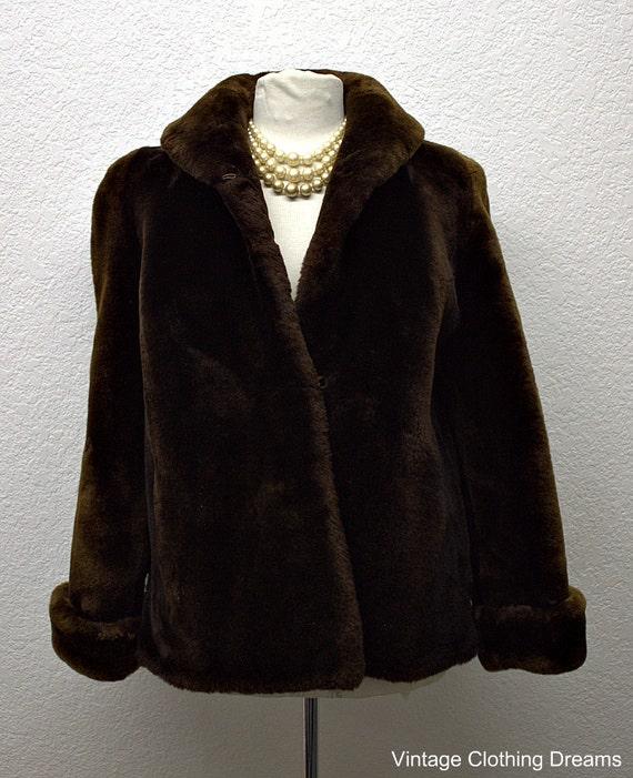 Vintage Mouton Lamb Fur Coat