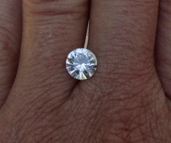RESERVED White Sapphire Engagement Ring September Birthstone Diamond Alternative