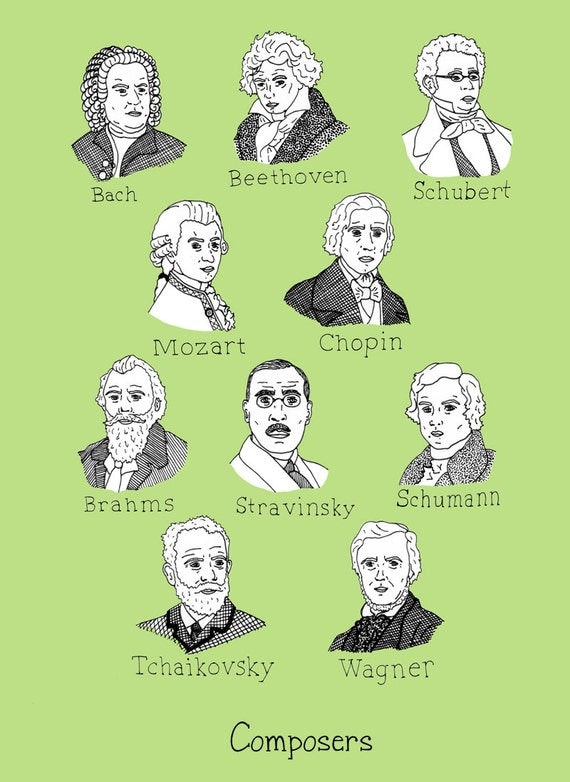 Composers print 8.5 x 11