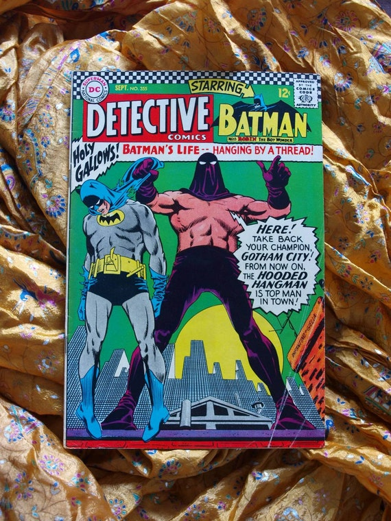 Detective Batman Comics no 355 DC Comics 1966 Hooded Hangman Elongated Man Zantana