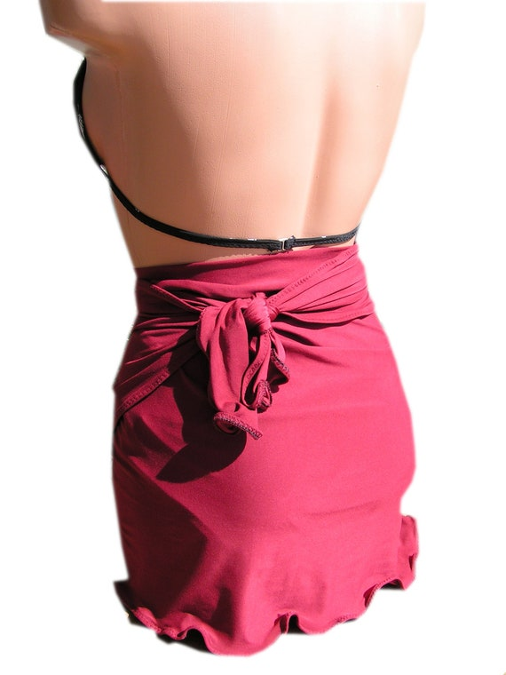 Sarong Cover Up Burgundy Wine Extra Large Womens and Teen Pool and ...