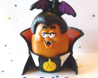 SALE, Halloween McNugget Buddies, Dracula, McNuggula McNugget, Vintage McDonald's Happy Meal Toys, Chicken McNuggets, Food Toys, Toy Sale