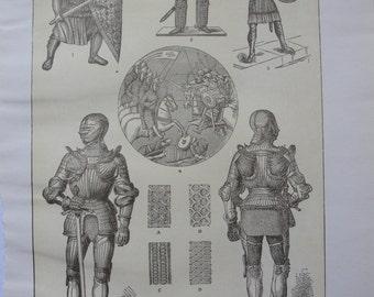 Armor - Sepia print -  original - 1911