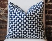 Betwixt - Indigo - Schumacher -  Designer Pillow - Decorative Pillow - Throw Pillow