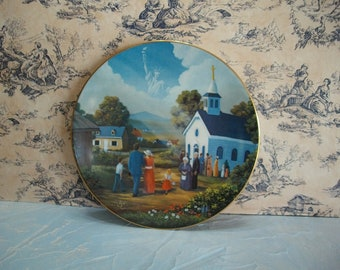 God Shed His Grace Vintage Decorative Collectors Plate