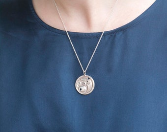 Cancer Constellation Zodiac Necklace - Sterling Silver