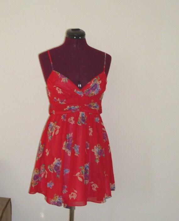 Little Red Dress/ Chiffon Baby Doll /  Lolita Tunic