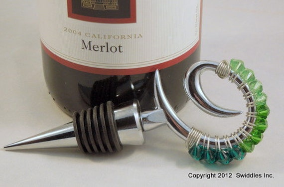 Beaded Wine Stopper made with Swarovski Crystals