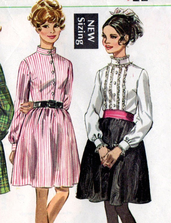 1960s Shirtwaist Dress Vintage Sewing Pattern - Simplicity 7804 Bust 34