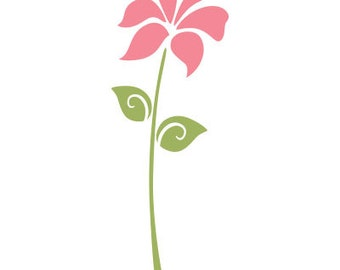 Flower Stencil for Painting Girls Room Wall Mural  (SKU105-istencil)