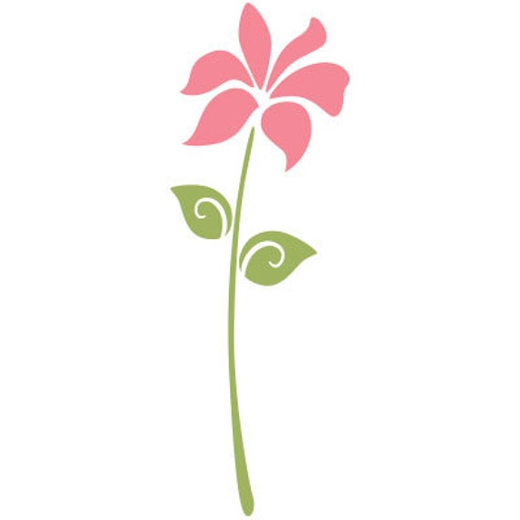 Flower Stencil for Painting Girls Room Wall Mural