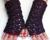 Crochet Pattern Fingerless Gloves Pattern PDF Lacy Shells Fingerless Gloves Wrist Warmer