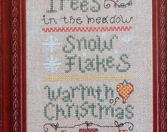 Gail Bussi MERRY and BRIGHT SAMPLER Christmas - Counted Cross Stitch Pattern Chart - fam
