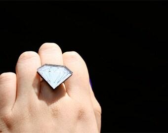 Custom Diamond Ring (laser cut acrylic)