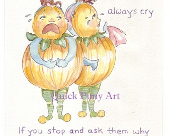 Onion Sisters Cry Babies watercolor