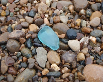 Lake Michigan Turquoise Beach Glass 5 x 7 Photo