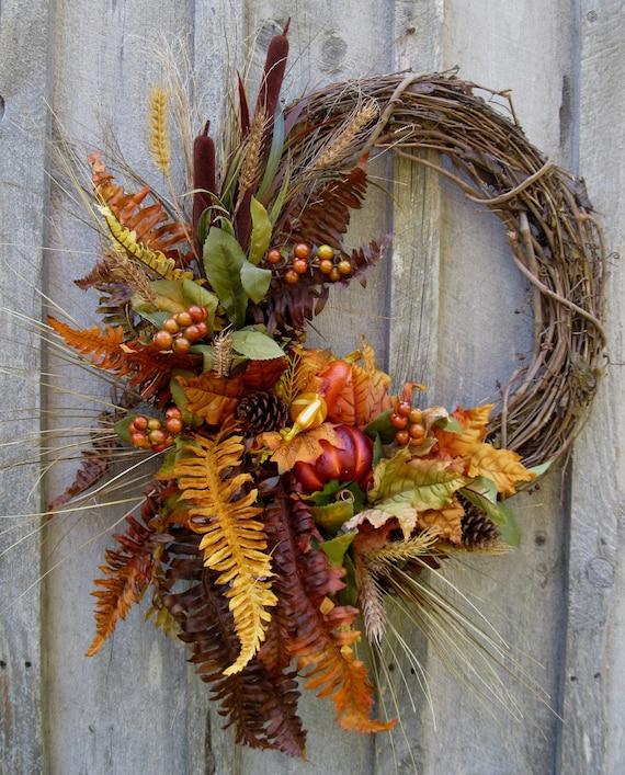 Fall Wreaths Autumn Woodland Wreath Designer Decor
