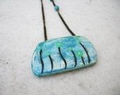 sorrow - clay, handpainted ooak pendant