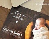 BABY ANNOUNCEMENTS : at first sight style - flat cards and envelopes