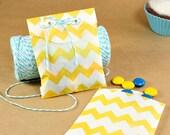 Yellow Tiny Chevron stripe paper bag