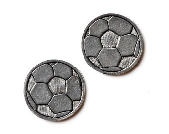 Soccer Cufflinks - Gifts for Men - Anniversary Gift - Handmade - Gift Box Included
