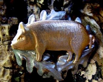 Black Forest Pig Brooch
