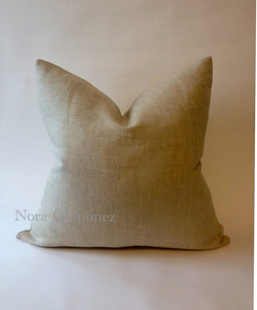 How To Make Zippered Throw Pillow Covers : Decorative Linen Throw Pillow Cover Invisible Zipper