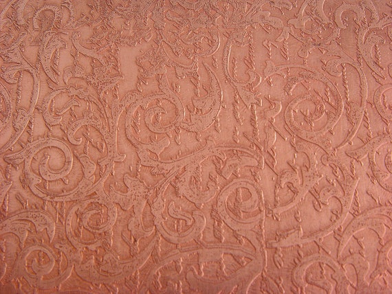 Etched Copper Sheet, Lace, 4x6 inches, 24g