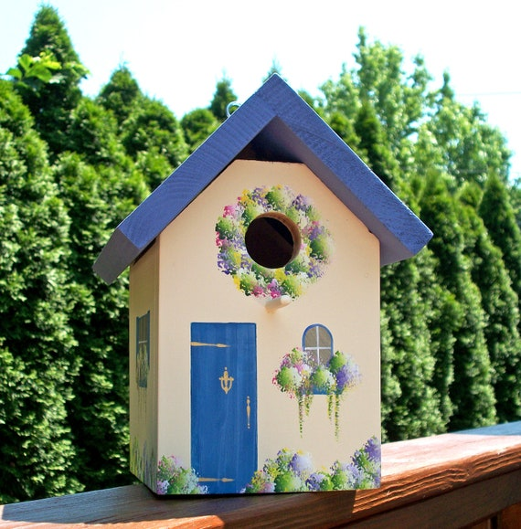 Cottage Blue Bird House