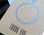 Wedding Thank You Card - letterpress by BIMPRESSED