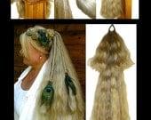 CUSTOM Fishtail ATTACHMENT - UPGRADE for Single Hair Fall, Plait, Braid, Wig, Hair Extension, Ponytail, long plaited Rapunzel plait