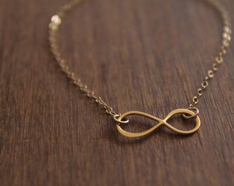 Infinity Bracelet // Gold or Silver