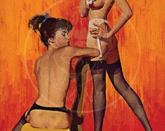 Innocent Lesbian  - 10x16 Giclée Canvas Print of a Vintage Pulp Paperback Cover