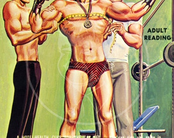 Young Danny - 10 x 16 Giclée Canvas Print of Vintage Gay Pulp Paperback