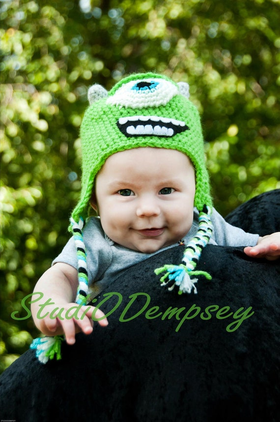 Monsters Inc. inspired Mike Wazowski Crochet Hat